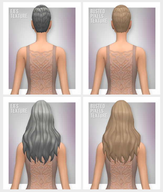Sims 4 GP01 Hairs with Updated Textures / Palettes at Busted Pixels
