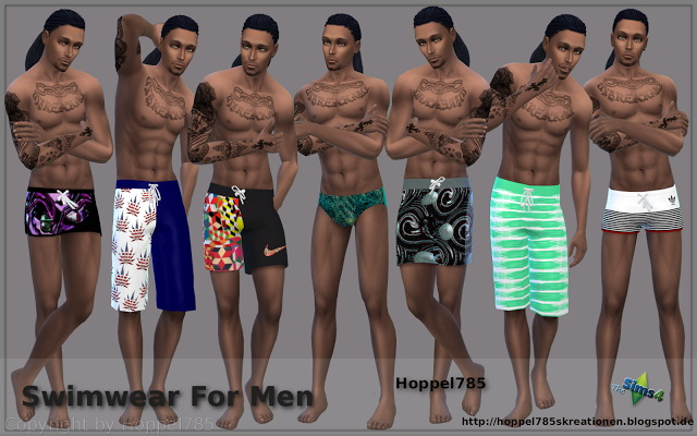 Male swimsuits at Hoppel785 image 3303 Sims 4 Updates