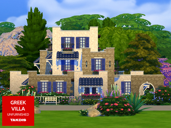 Greek Villa by Takdis at TSR image 3313 Sims 4 Updates