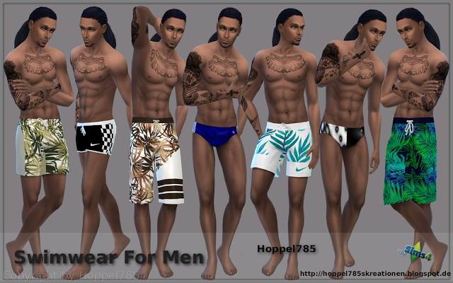 Male swimsuits at Hoppel785 image 3319 Sims 4 Updates
