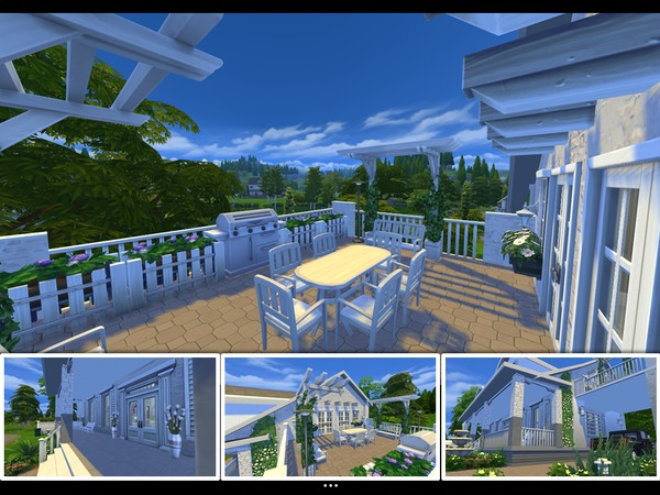 Sims 4 Country Ivy home by mlpermalino at TSR