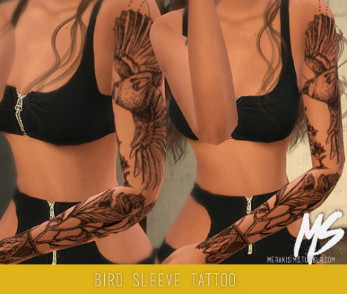 Earrings, tattoo, sunglasses, boots and swimsuit at Merakisims image 3381 Sims 4 Updates