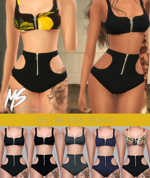 Earrings, tattoo, sunglasses, boots and swimsuit at Merakisims image 3391 Sims 4 Updates
