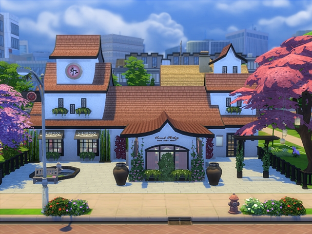 Sims 4 Lotus flower restaurant by Angel74 at Beauty Sims