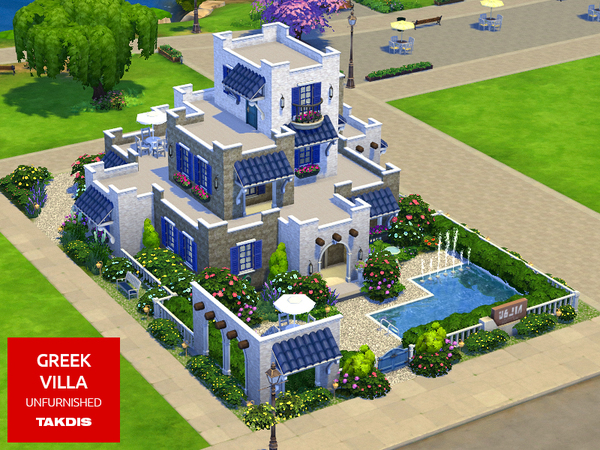 Greek Villa by Takdis at TSR image 3412 Sims 4 Updates