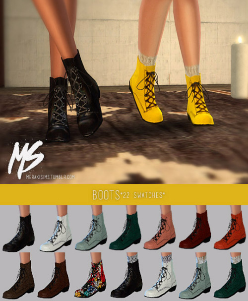 Earrings, tattoo, sunglasses, boots and swimsuit at Merakisims image 3413 Sims 4 Updates