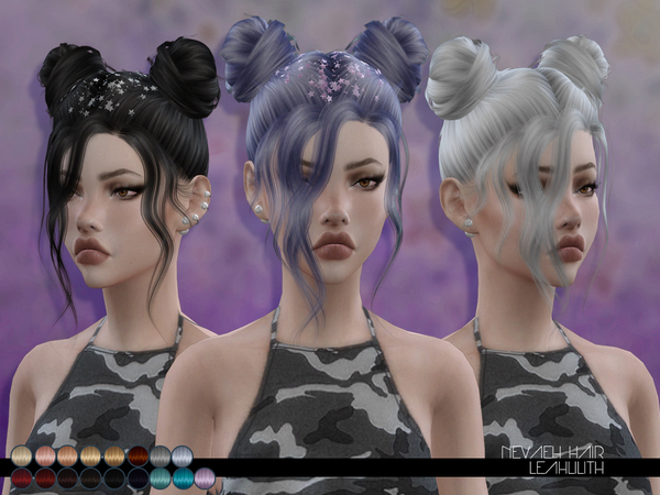 Sims 4 Nevaeh Hair by Leah Lillith at TSR
