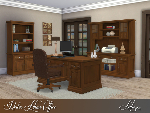 Porter Home Office by Lulu265 at TSR image 3420 Sims 4 Updates