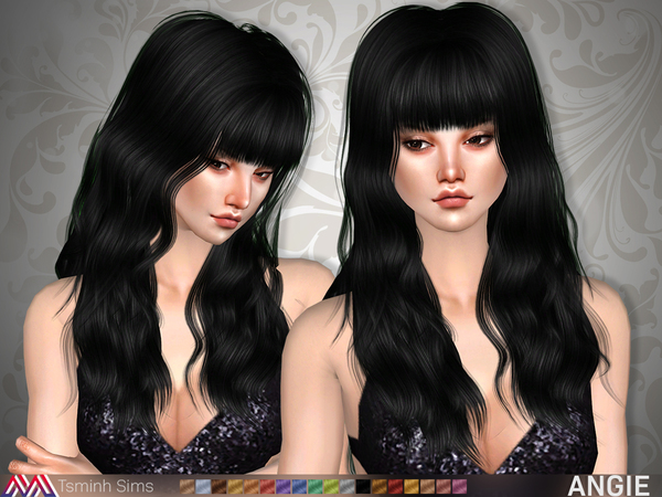 Sims 4 Angie Hair 20 by TsminhSims at TSR