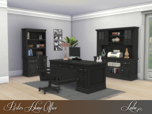 Porter Home Office by Lulu265 at TSR image 3520 Sims 4 Updates
