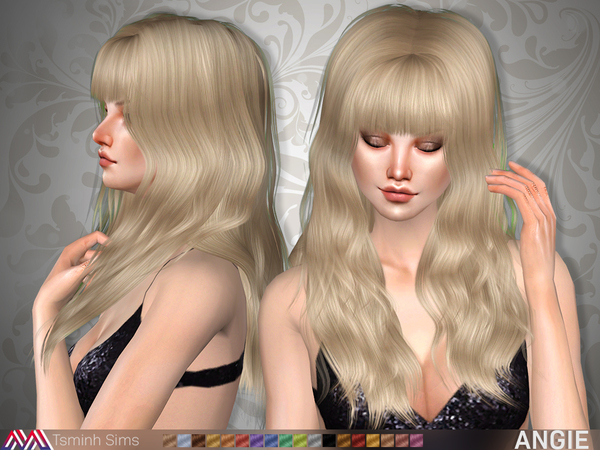 Angie Hair 20 by TsminhSims at TSR image 3525 Sims 4 Updates