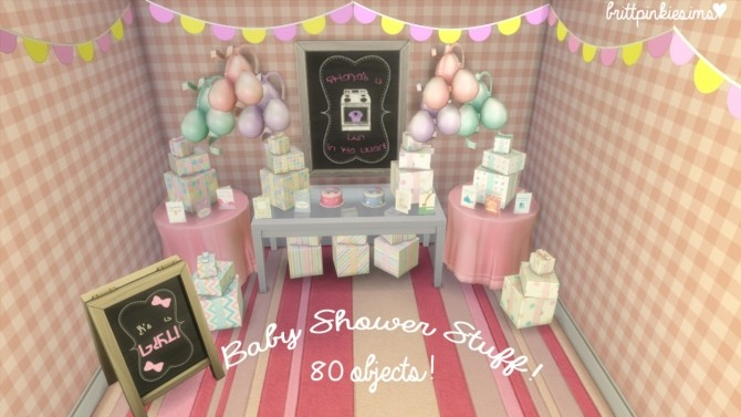 Baby Shower Stuff At Brittpinkiesims