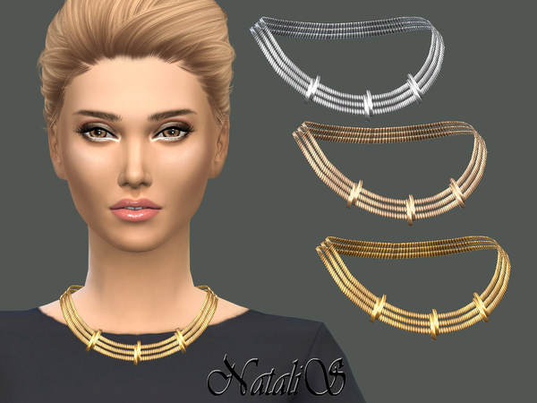 Tiered necklace with sliders by NataliS at TSR image 360 Sims 4 Updates