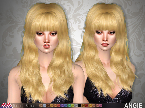 Angie Hair 20 by TsminhSims at TSR image 3618 Sims 4 Updates