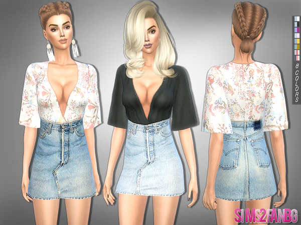 214 Casual Outfit By Sims2fanbg At Tsr 187 Sims 4 Updates
