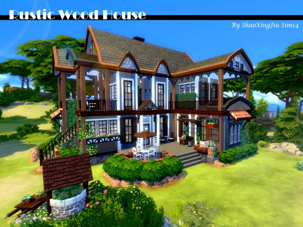 Rustic Wood House by jeisse197 at TSR image 37 Sims 4 Updates