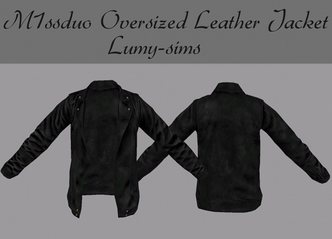 Sims 4 M1ssduo Oversized Leather Jacket at Lumy Sims