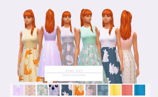 Dine Out Dress Recolors by Asimsfetish at SimsWorkshop image 381 670x410 Sims 4 Updates