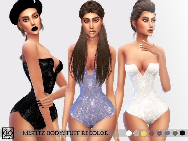 Sims 4 Misfitz Bodysuit Recolor by KiaraQueen at TSR