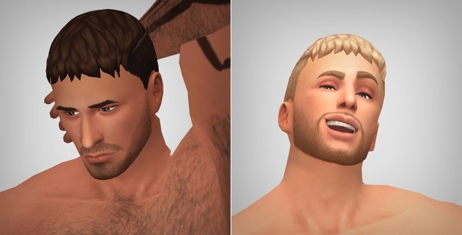 Sims 4 Iron Clad hair for males by Xld Sims at SimsWorkshop
