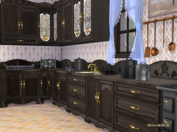 Sims 4 French Quarter Kitchen by ShinoKCR at TSR