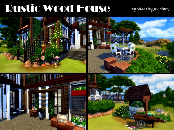 Rustic Wood House by jeisse197 at TSR image 39 Sims 4 Updates
