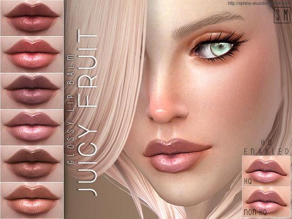 Sims 4 Juicy Fruit Glossy Lip Balm by Screaming Mustard at TSR