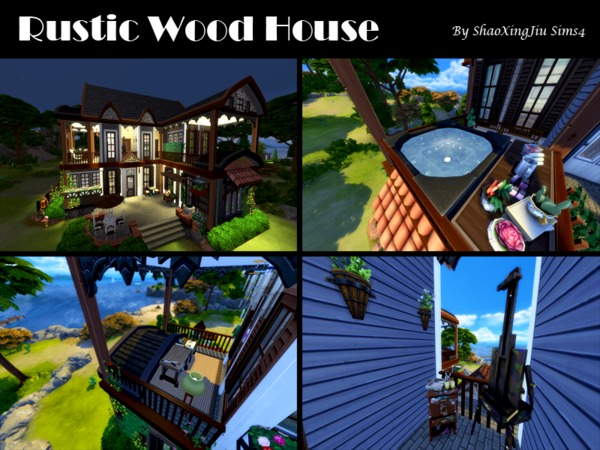 Rustic Wood House by jeisse197 at TSR image 40 Sims 4 Updates