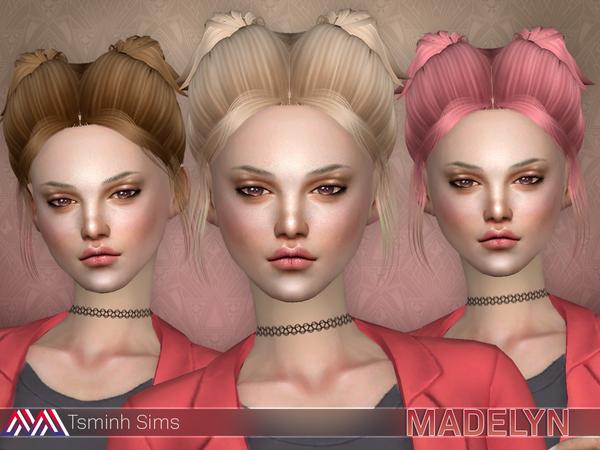 Sims 4 Madelyn Hair 17 by TsminhSims at TSR