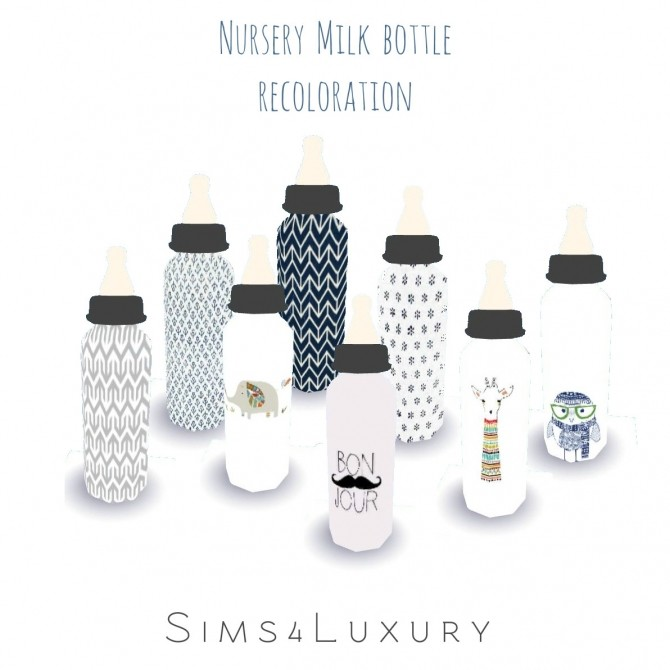 Sims 4 Nursery milk bottle recolors at Sims4 Luxury