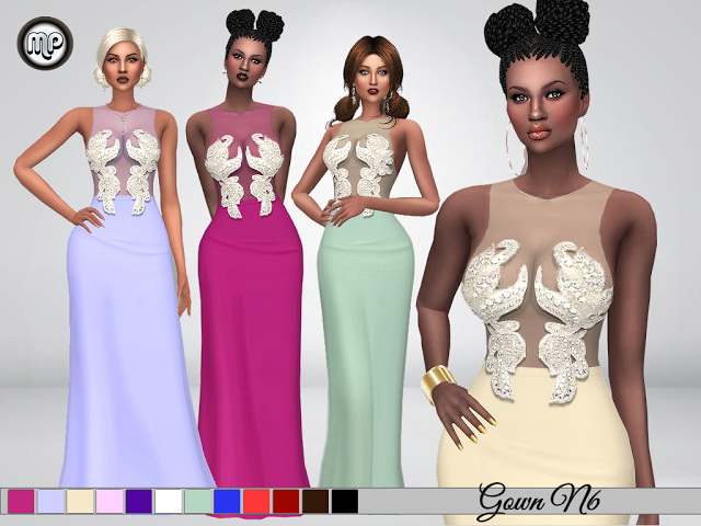 Sims 4 MP Gown N6 at BTB Sims – MartyP