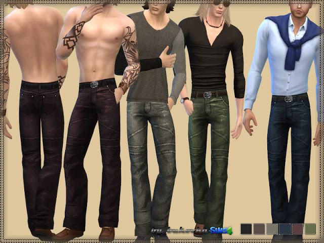 Sims 4 Leather Pants at Bukovka