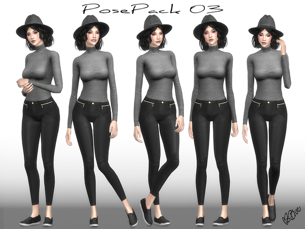 Sims 4 Pose Pack 03 CAS + Ingame by Ms Blue at TSR