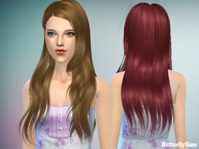 Sims 4 B fly hair af 147 by Yoyo at Butterfly Sims