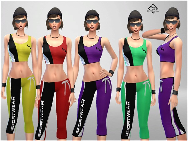 Sims 4 Sportswear Athletic Suit 1 by Devirose at TSR