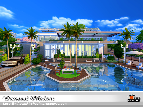 Dassanai Modern house by autaki at TSR image 4413 Sims 4 Updates