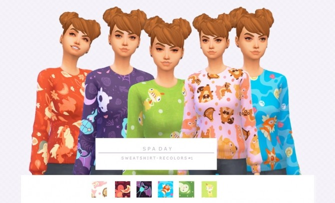 Spa Day Sweatshirt Recolors by asimsfetish at SimsWorkshop image 442 670x407 Sims 4 Updates