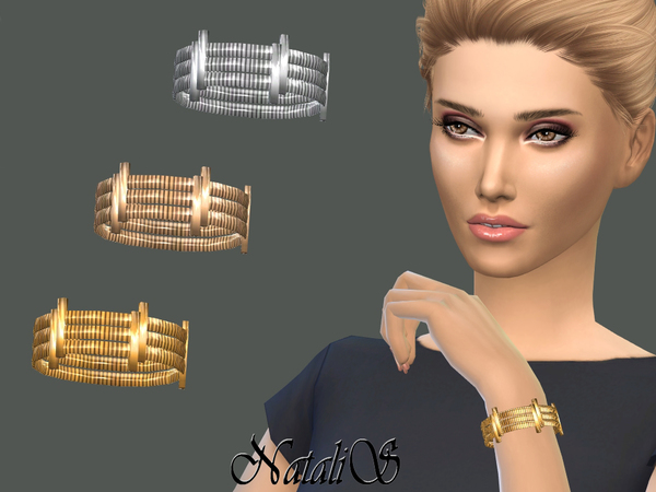 Sims 4 Tiered bracelet with sliders by NataliS at TSR