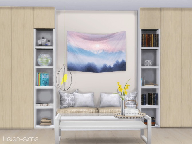 Sims 4 Wall Tapestry at Helen Sims