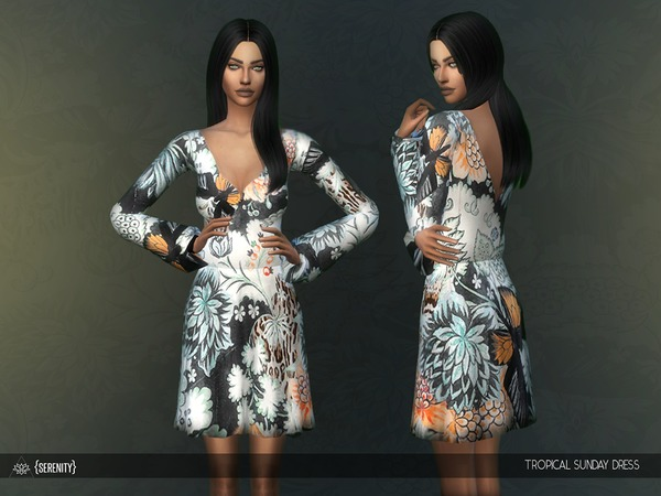 Tropical Sunday Dress by serenity cc at TSR image 45 Sims 4 Updates