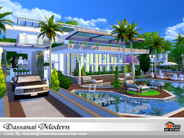 Dassanai Modern house by autaki at TSR image 4513 Sims 4 Updates