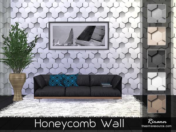 Honeycomb Wall by Rirann at TSR image 453 Sims 4 Updates