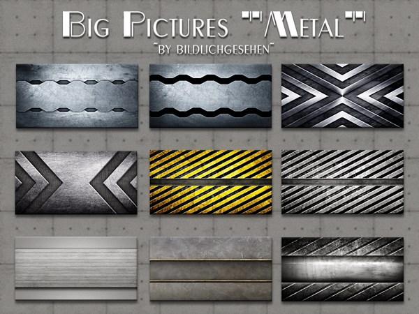 Metal Big Pictures by Bildlichgesehen at Akisima image 4571 Sims 4 Updates