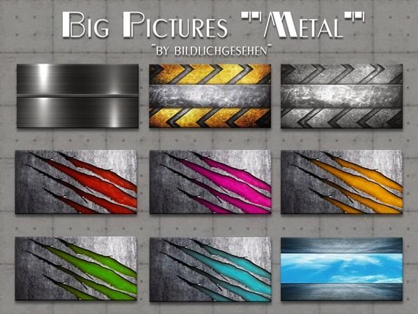 Metal Big Pictures by Bildlichgesehen at Akisima image 458 Sims 4 Updates
