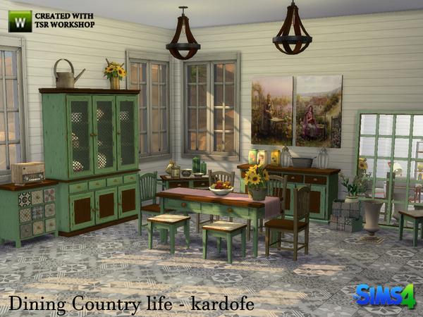 Sims 4 Dining Country life by kardofe at TSR