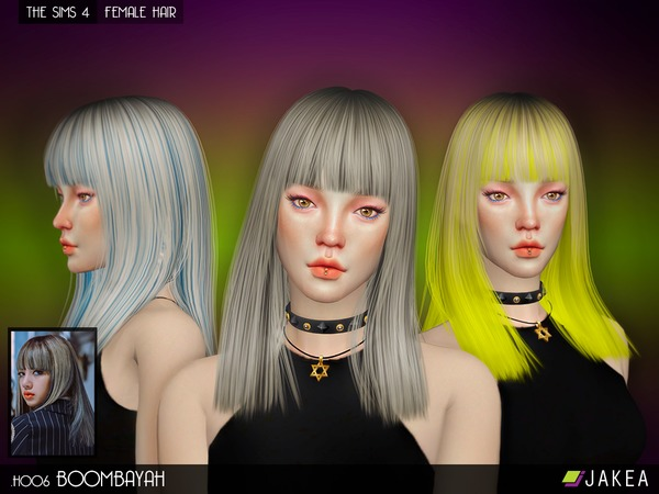 Sims 4 H006 BOOMBAYAH Female Hair by JAKEASims at TSR