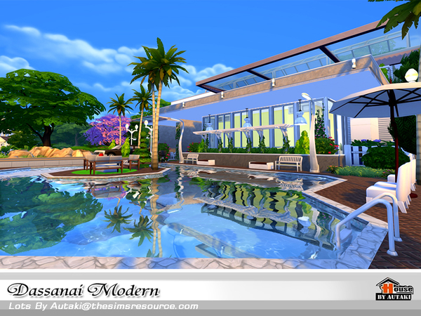 Dassanai Modern house by autaki at TSR image 4613 Sims 4 Updates