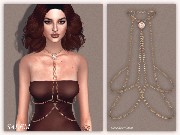Stone Body Chain by Salem C. at TSR image 4615 Sims 4 Updates