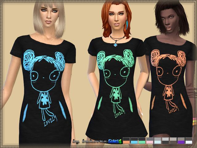 Sims 4 Lovely dress at Bukovka