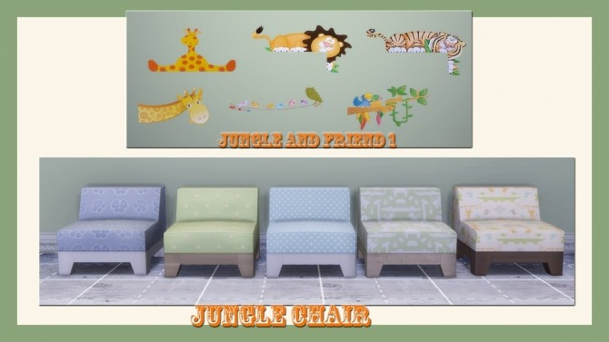 Sims 4 JUNGLE AND FRIENDS SET at Alelore Sims Blog